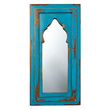 Buy John Lewis Antique Wall Mirror, Teal, 42 x 20cm Online at johnlewis.com