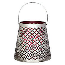 Buy John Lewis Trellis Lantern with Handle, Pink Online at johnlewis.com