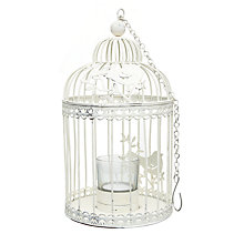Buy Bird Cage Tealight Holder, Cream Online at johnlewis.com