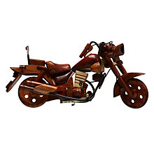 Buy John Lewis Wooden Motorbike Ornament, Brown Online at johnlewis.com