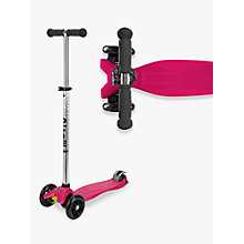 Buy Maxi Micro Scooter, Raspberry Online at johnlewis.com