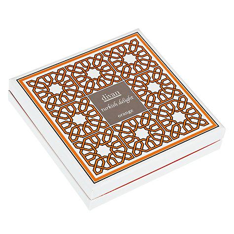 Buy Divan Orange Turkish Delights Box, 250g Online at johnlewis.com