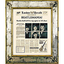 Buy Brookpace, The Versailles Collection - Beatlemania Framed Print, 55 x 45cm Online at johnlewis.com