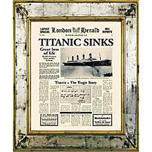 Buy Brookpace, The Versailles Collection - Titanic Sinks Framed Print, 55 x 45cm Online at johnlewis.com