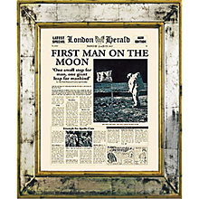 Buy Brookpace, The Versailles Collection - First Man on the Moon Framed Print, 55 x 45cm Online at johnlewis.com