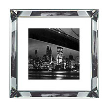 Buy Brookpace, The Manhattan Collection - New York at Night Framed Print, 46 x 46cm Online at johnlewis.com