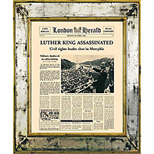 Buy Brookpace, The Versailles Collection - Martin Luther Assassination Framed Print,  55 x 45cm Online at johnlewis.com