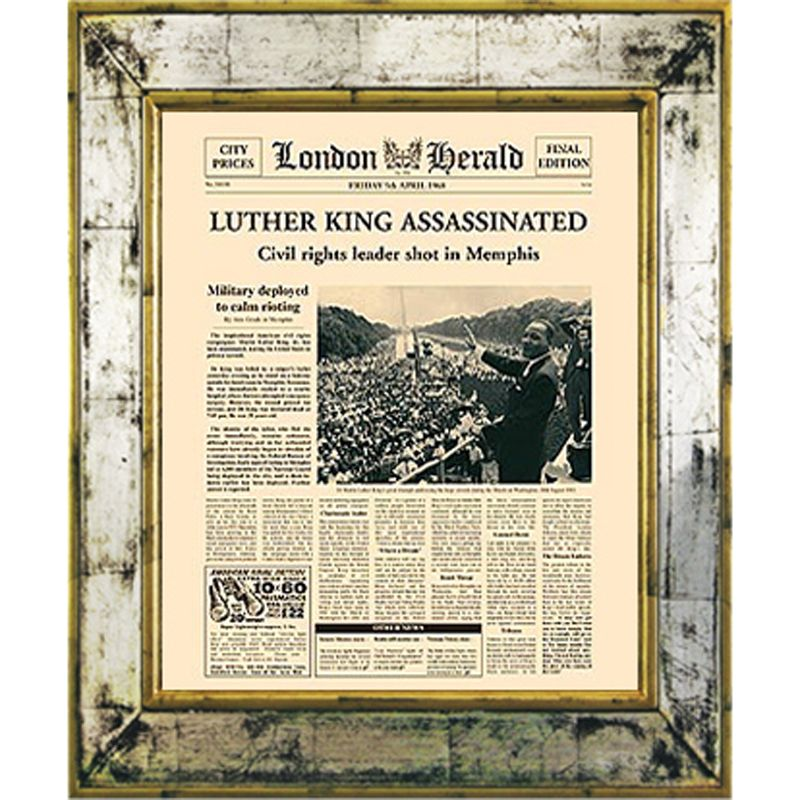 Brookpace Brookpace, The Versailles Collection - Martin Luther Assassination Framed Print, 55 x 45cm
