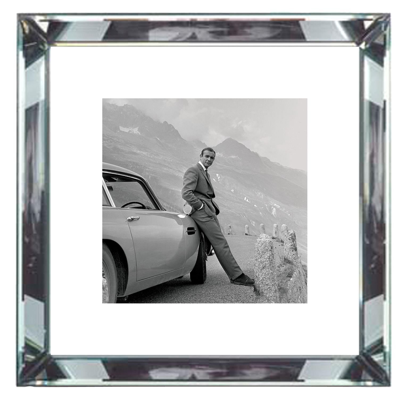 Brookpace Brookpace, The Manhattan Collection - James Bond Aston Martin Framed Print, 46 x 46cm