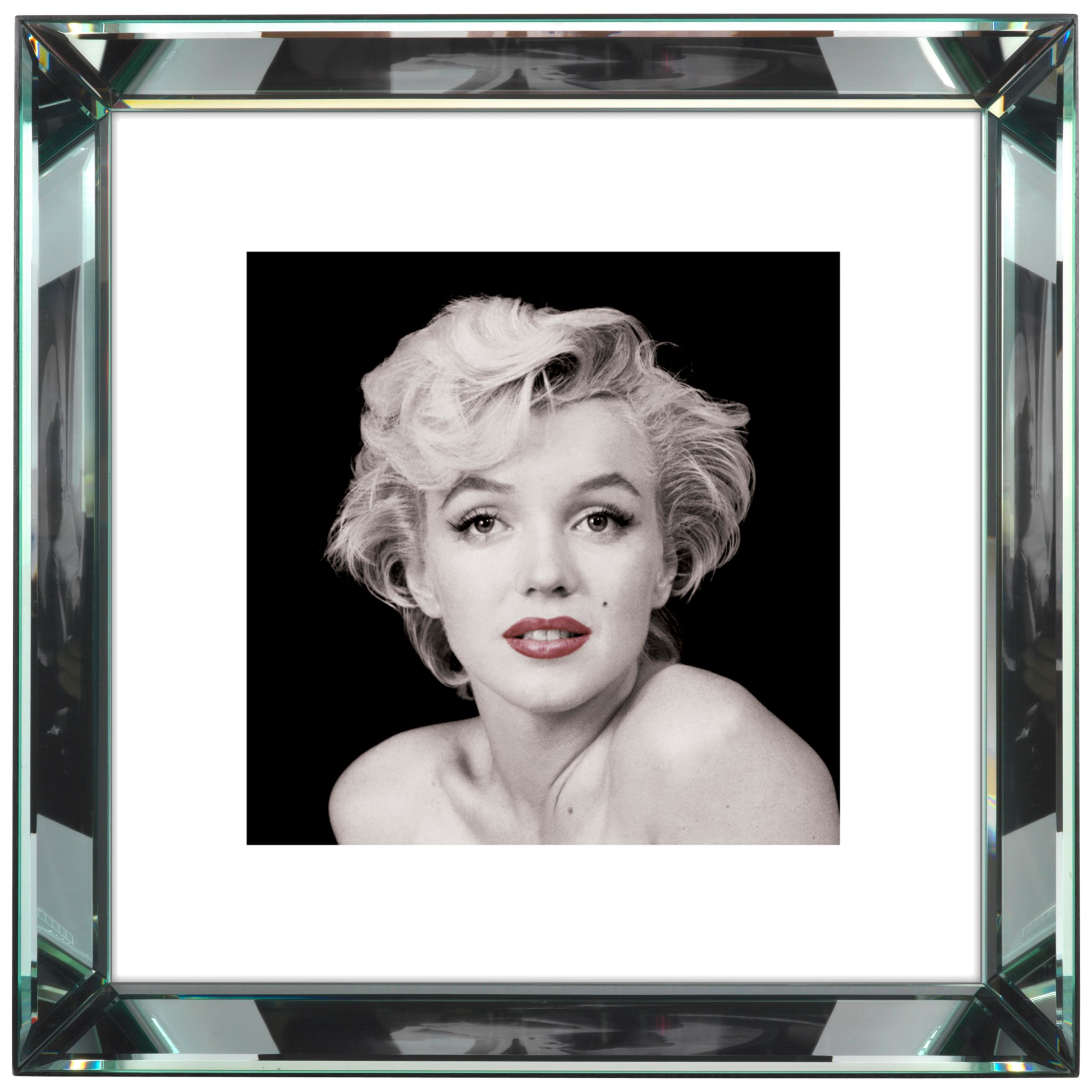 Brookpace Brookpace, The Manhattan Collection - Marilyn Monroe Red Lips Framed Print, 46 x 46cm