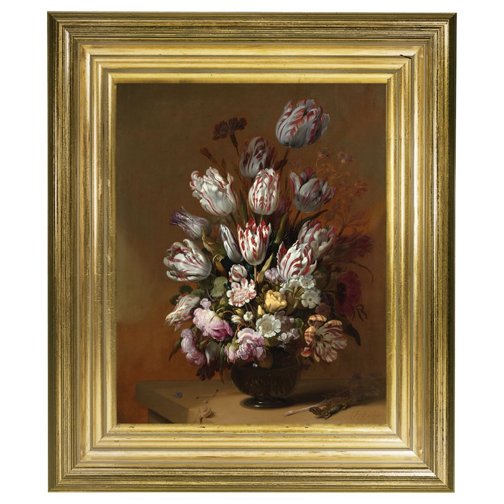 Rijksmuseum Rijksmuseum, Hans Bollongier - Still Life with Flowers Framed Print, 34 x 29cm