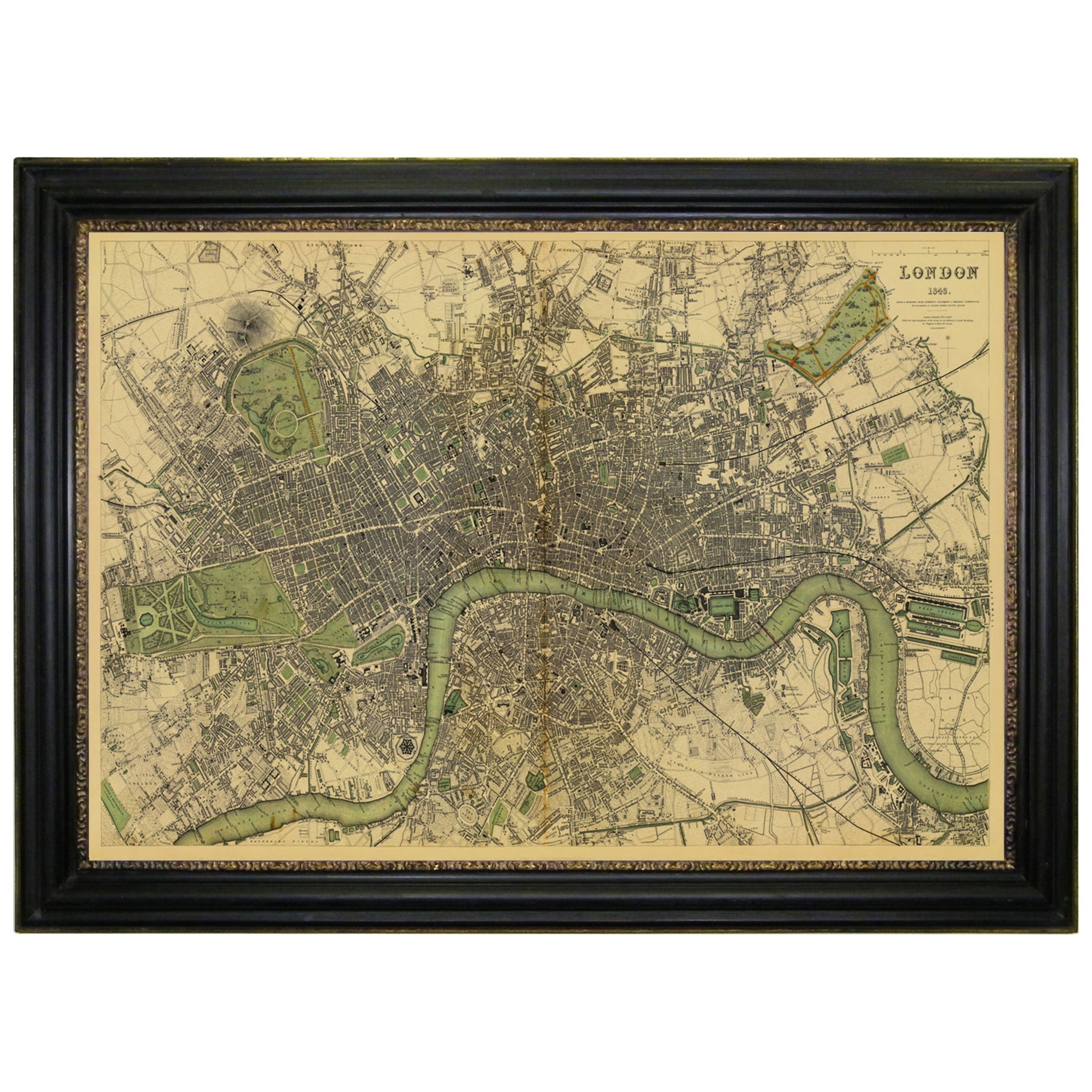 Brookpace Brookpace, Vintage Maps Collection - London Framed Print, 76 x 107cm