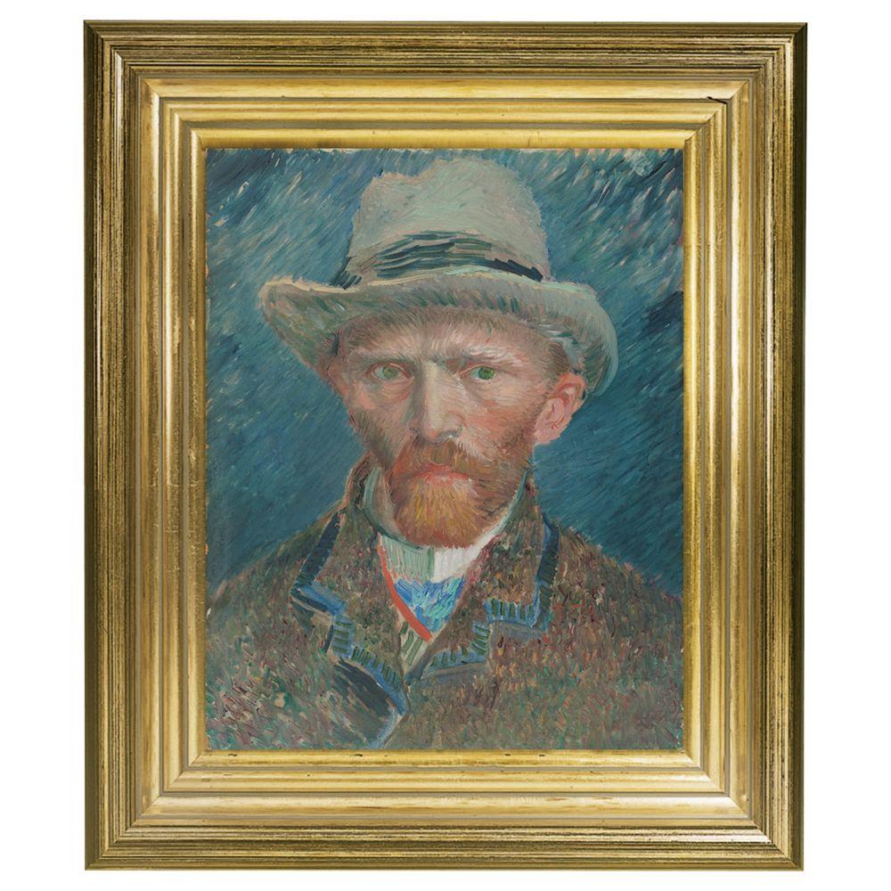 Rijksmuseum Rijksmuseum, Vincent Van Gogh - Self Portrait Framed Print, 34 x 29cm