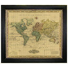Buy Brookpace, Vintage Maps Collection - Mercator's World Framed Print, 101 x 117cm Online at johnlewis.com