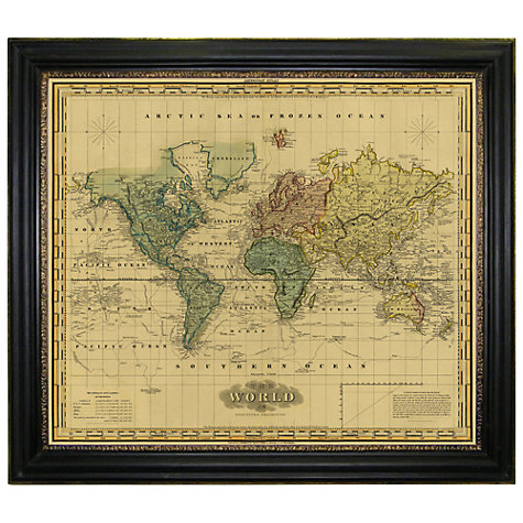 Buy Brookpace Vintage Maps Collection Mercator 39 s World Framed Print 1