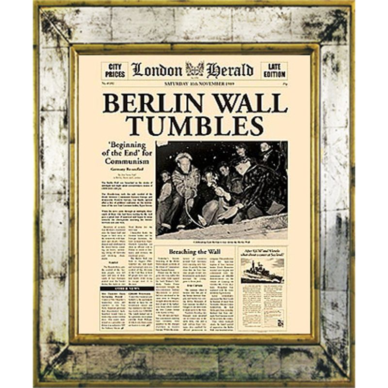Brookpace Brookpace, The Versailles Collection - Berlin Wall Tumbles Framed Print, 55 x 45cm