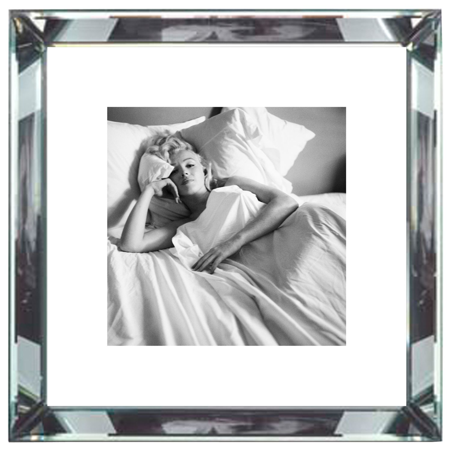 Brookpace Brookpace, The Manhattan Collection - Marilyn Monroe Bed Framed Print, 46 x 46cm