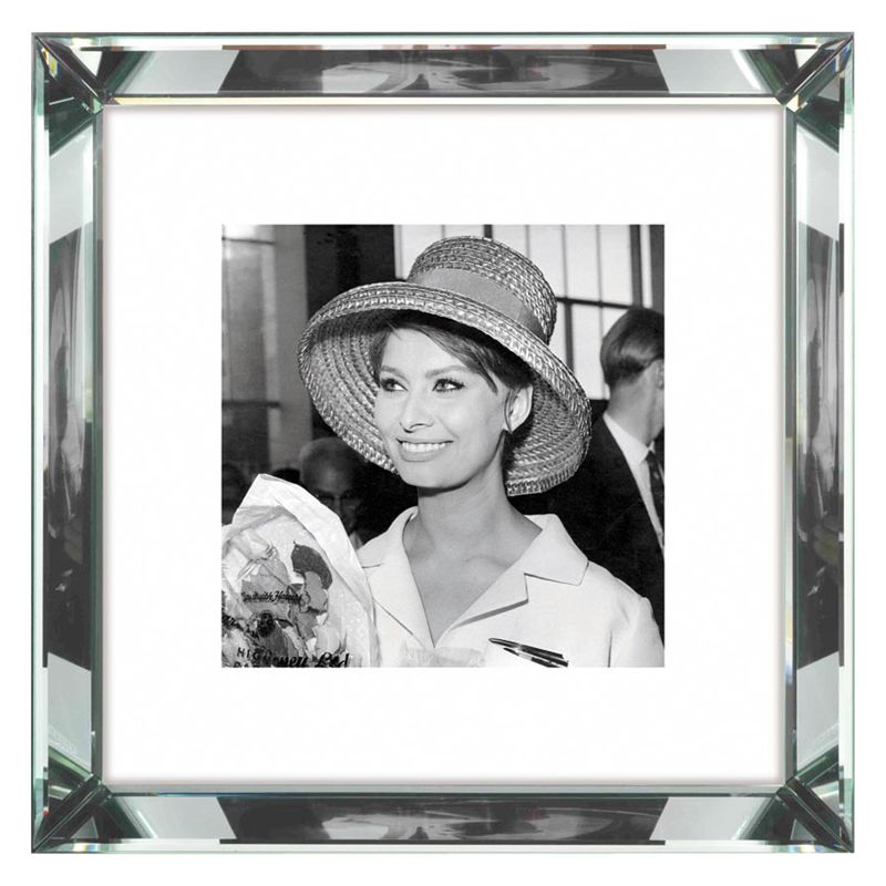 Brookpace Brookpace, The Manhattan Collection - Sophia Loren Framed Print, 46 x 46cm