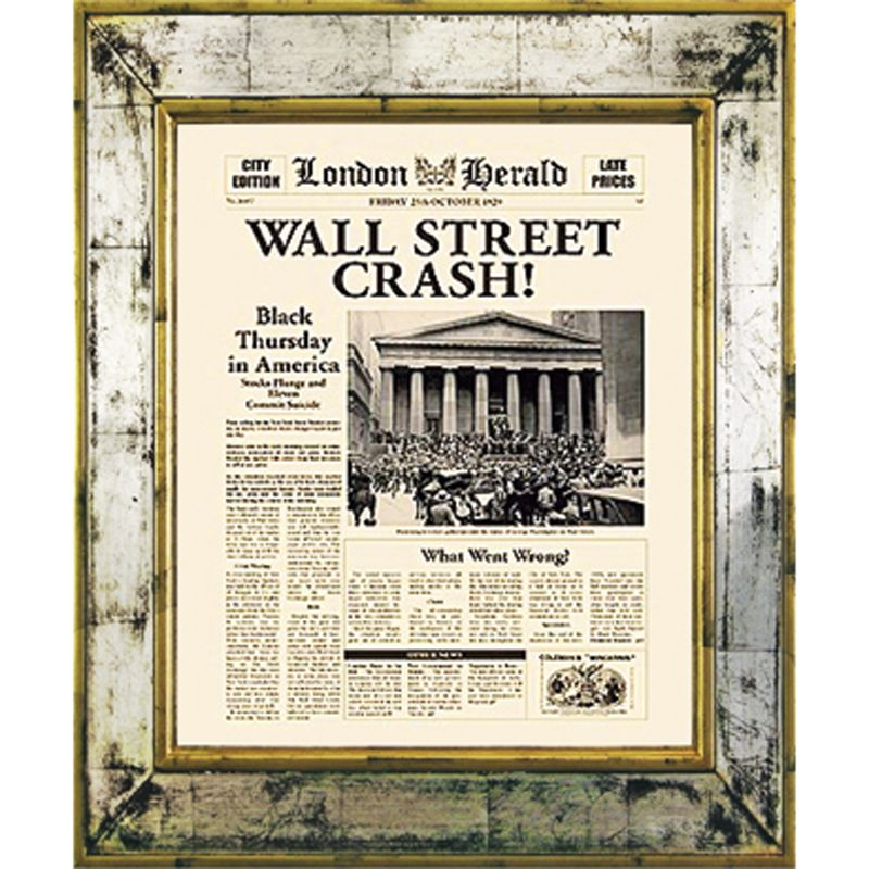 Brookpace Brookpace, The Versailles Collection - Wall Street Crash Framed Print, 55 x 45cm