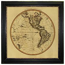Buy Brookpace, Vintage Maps Collection - Western Hemisphere Framed Print, 91 x 91cm Online at johnlewis.com