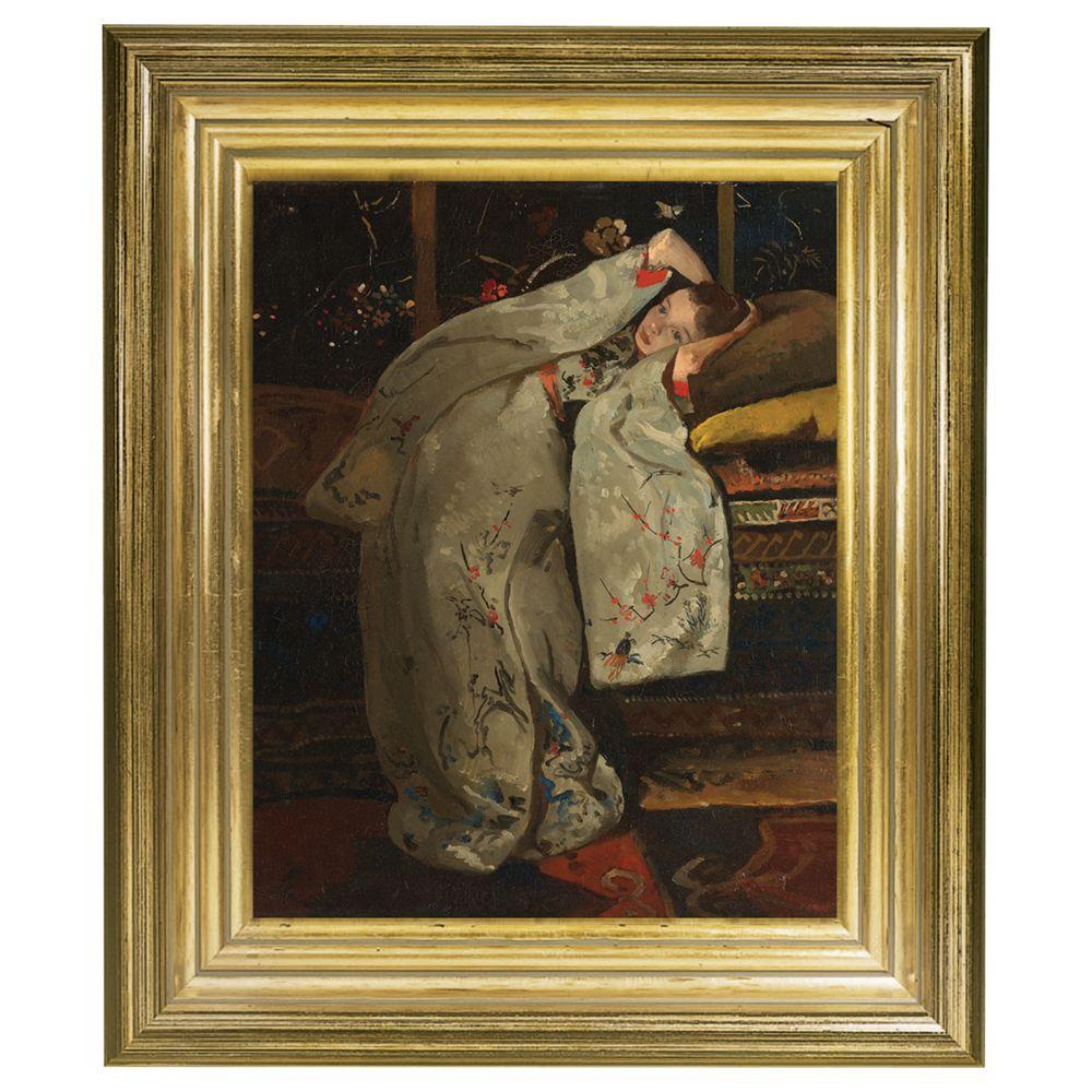 Rijksmuseum Rijksmuseum, George Hendrik Breitner - Girl in White Kimono Framed Print, 34 x 29cm
