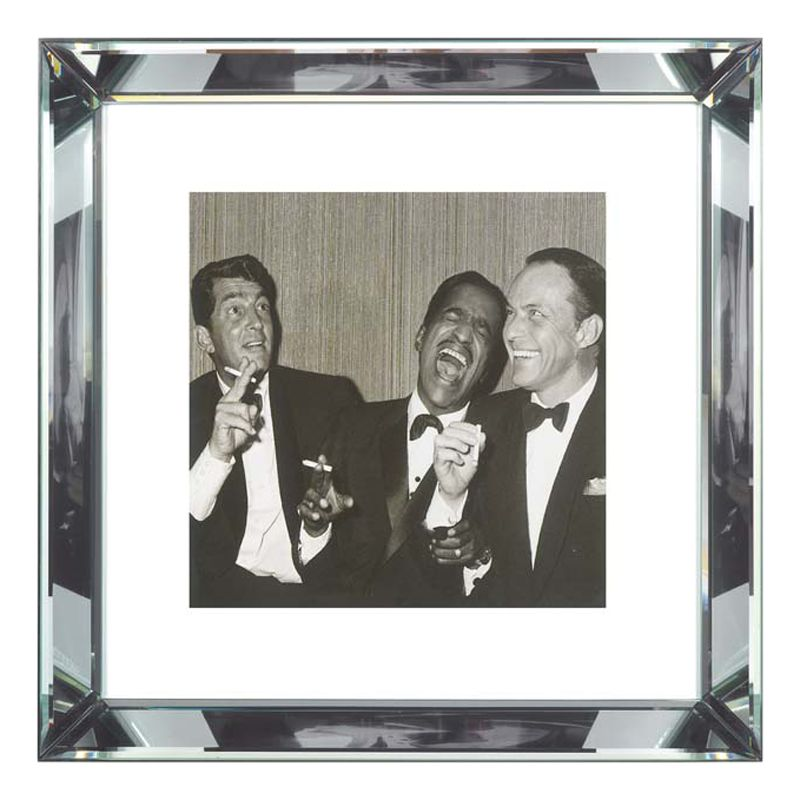 Brookpace Brookpace, The Manhattan Collection - The Rat Pack Framed Print, 46 x 46cm