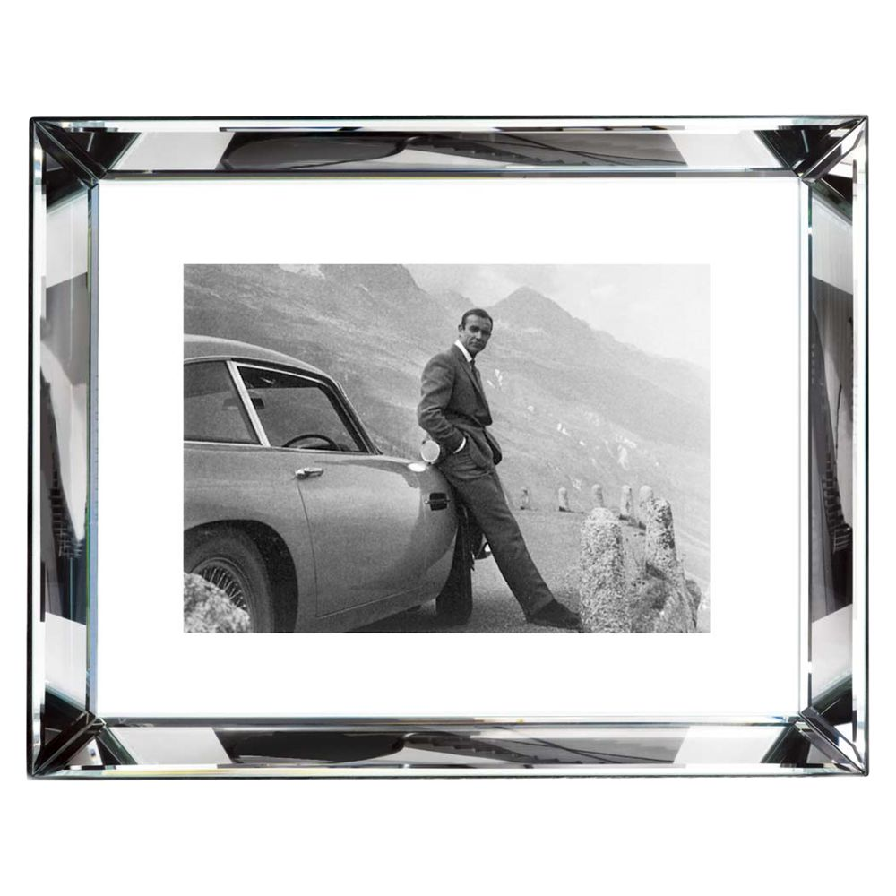 Brookpace Brookpace, The Manhattan Collection - James Bond Aston Martin Framed Print, 67 x 87cm