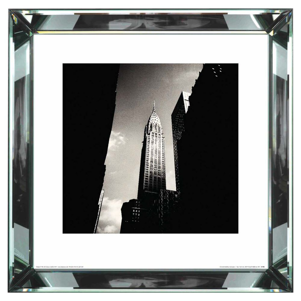 Brookpace Brookpace, The Manhattan Collection - Chrysler Building Framed Print, 46 x 46cm