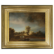Buy Rijksmuseum, Rembrandt Harmensz. van Rijn - The Stone Bridge Framed Print, 29 x 34cm Online at johnlewis.com