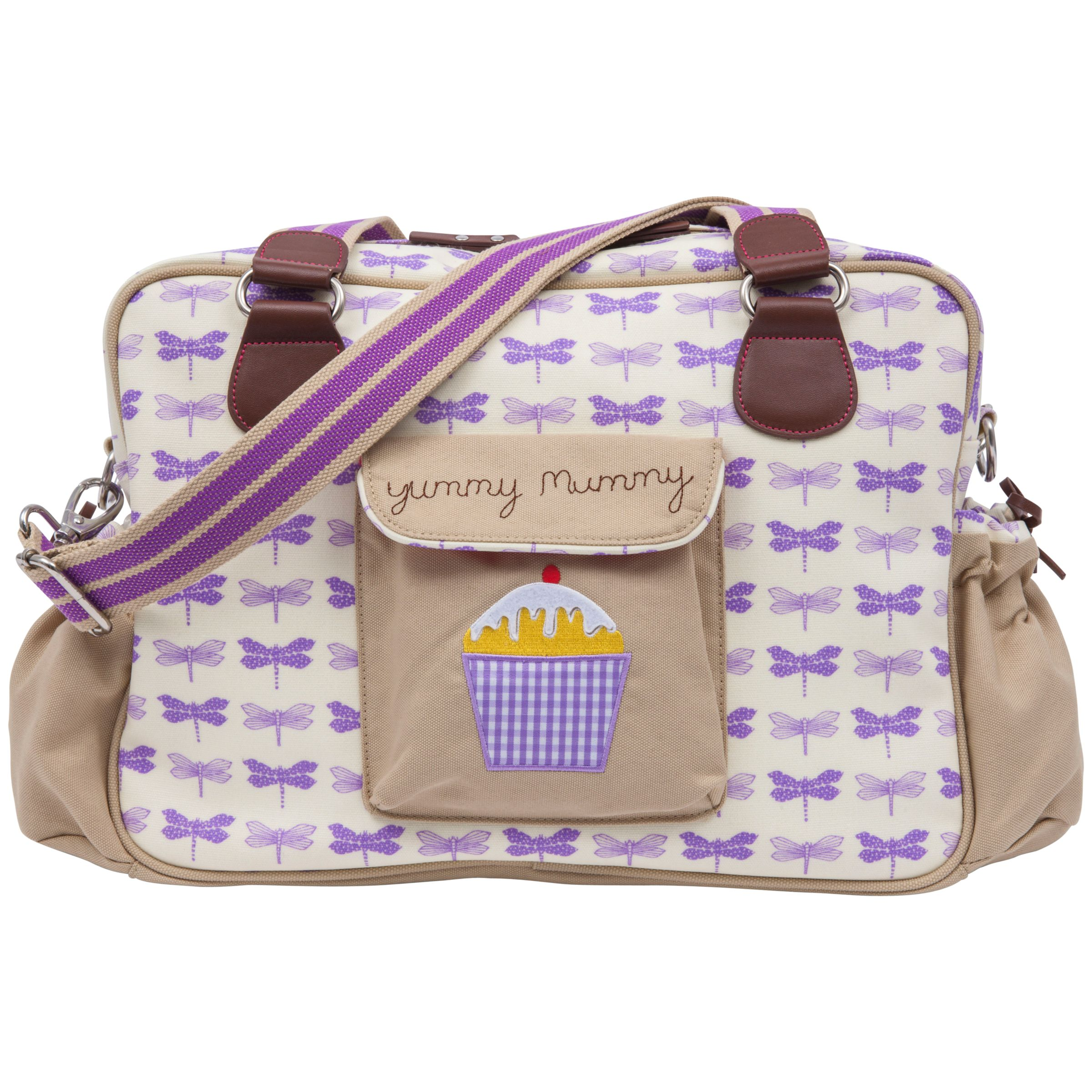Pink Lining Yummy Mummy Changing Bag Purple Dragonfly