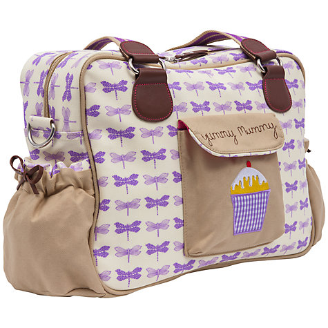 Buy Pink Lining Yummy Mummy Changing Bag, Purple Dragonfly Online at johnlewis.com