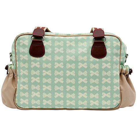Buy Pink Lining Yummy Mummy Changing Bag, Peppermint Bows Online at johnlewis.com