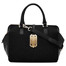 Buy Reiss Sage Croc Embossed Bag, Black Online at johnlewis.com
