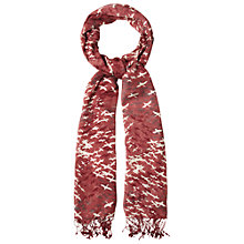 Buy White Stuff Flying Geese Scarf, Red Online at johnlewis.com