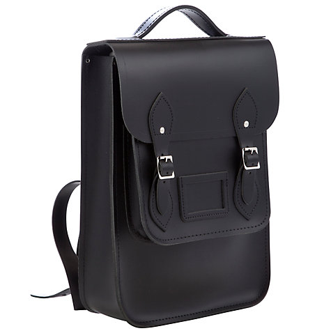 "Buy The Cambridge Satchel Company 14"" North/South Leather Backpack Online at johnlewis.com"