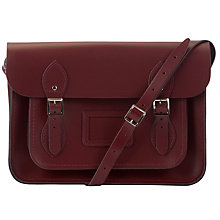 "Buy The Cambridge Satchel Company The Classic 13"" Leather Satchel Bag, Oxblood Online at johnlewis.com"