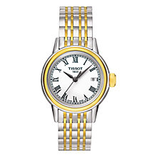 Buy Tissot T0852102201300 Women's Carson Bracelet Strap Watch, Silver / Gold Online at johnlewis.com