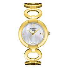 Buy Tissot T-Trend Women's Pinky Mother of Pearl Bracelet Strap Watch Online at johnlewis.com