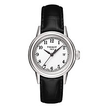 Buy Tissot T0852101601200 Women's Carson Leather Strap Watch, Black Online at johnlewis.com