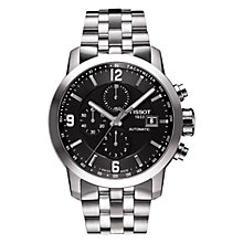 Buy Tissot PRC200 Men's Automatic Chronograph Stainless Steel Bracelet Watch, Silver Online at johnlewis.com