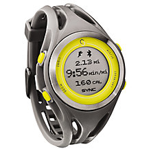 Buy Sync Women's GPS Heart Rate Monitor Watch, Grey/Yellow Online at johnlewis.com