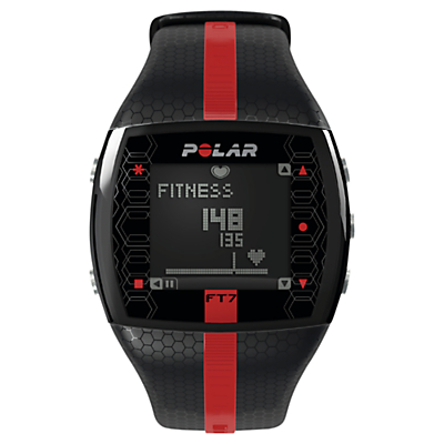 Polar FT7 Heart Rate Monitor Sports Watch, Black/Red
