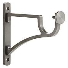 Buy John Lewis Stainless Steel Traditional Side Bracket, Dia.30mm Online at johnlewis.com