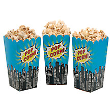 Buy Ginger Ray Pop Art Superhero Popcorn Treat Boxes, Pack of 8 Online at johnlewis.com