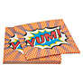 Ginger Ray Pop Art Superhero Disposable Paper Napkins, Pack of 20