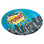 Ginger Ray Pop Art Superhero Disposable Paper Plates, Pack of 8