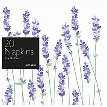 Buy John Lewis Lavendar Paper Napkins, Pack of 20 Online at johnlewis.com