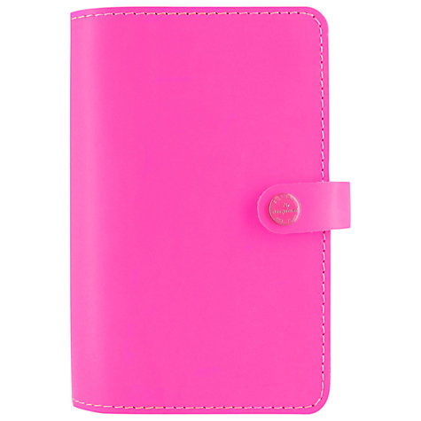 Buy Filofax The Original Fluoro Personal Organiser, Pink Online at johnlewis.com
