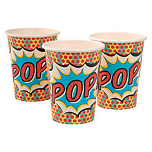 Buy Pop Art Superhero Disposable Paper Cups, Pack of 8 Online at johnlewis.com