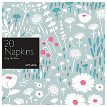 Buy John Lewis Wild Flowers Paper Napkins, Pack of 20 Online at johnlewis.com